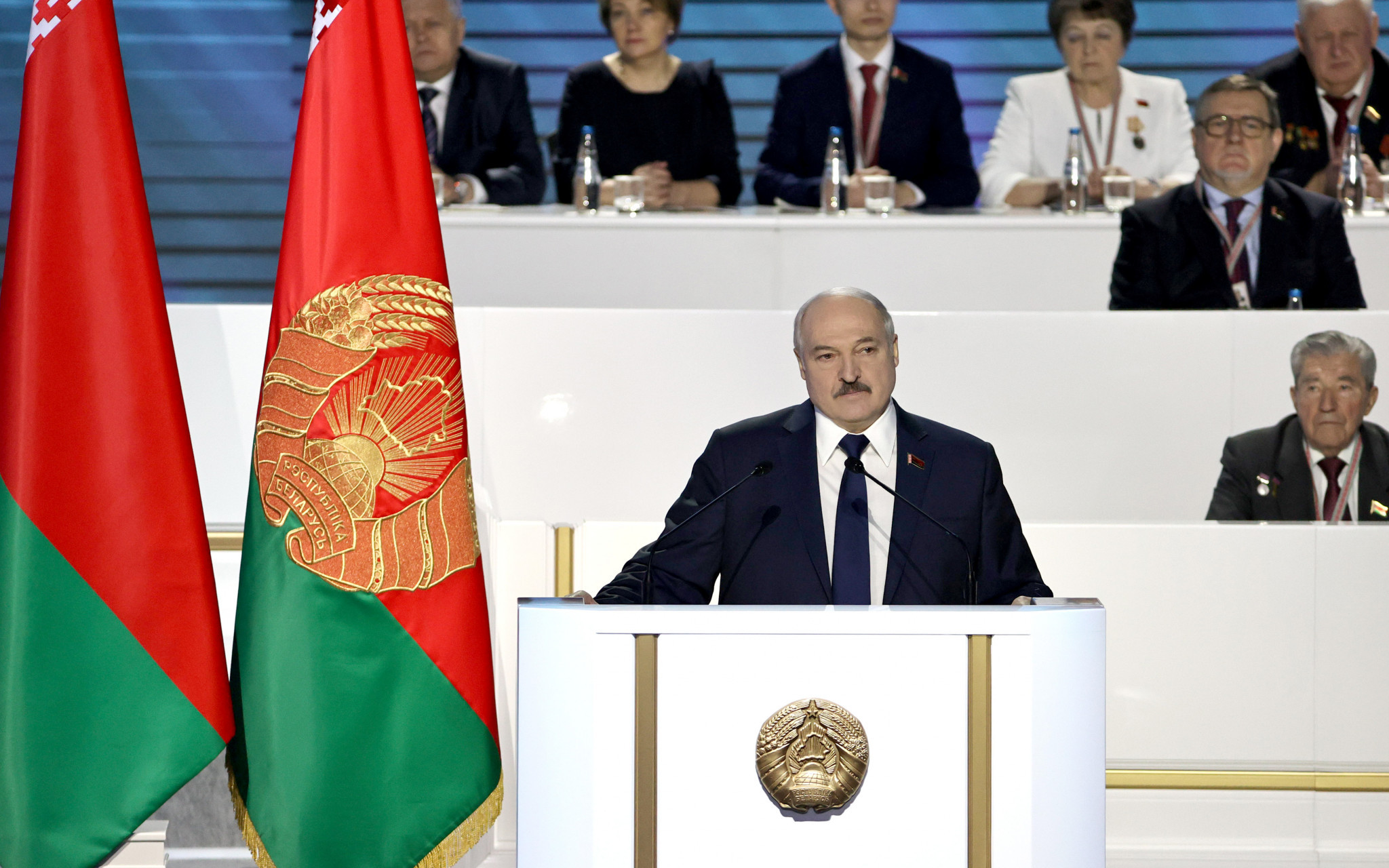 Belarus President Alexander Lukashenko and his son Viktor are already subject to IOC sanctions ©Getty Images