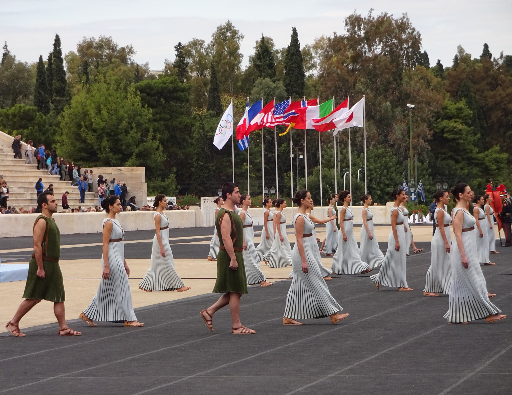 The Panathinaiko celebration is traditionally a focal point for Olympic visitors ©Philip Barker