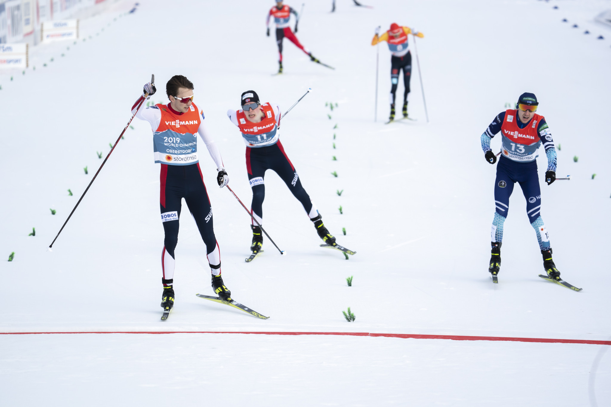 Riiber defends normal hill title at Nordic World Ski Championships