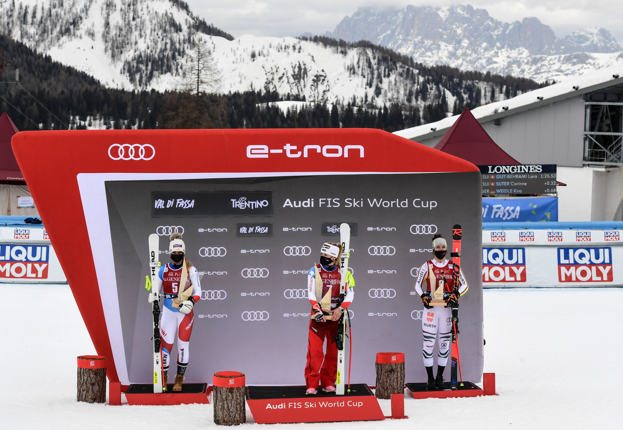 Lara Gut-Behrami has won five of the past six Alpine Ski World Cup races ©Getty Images