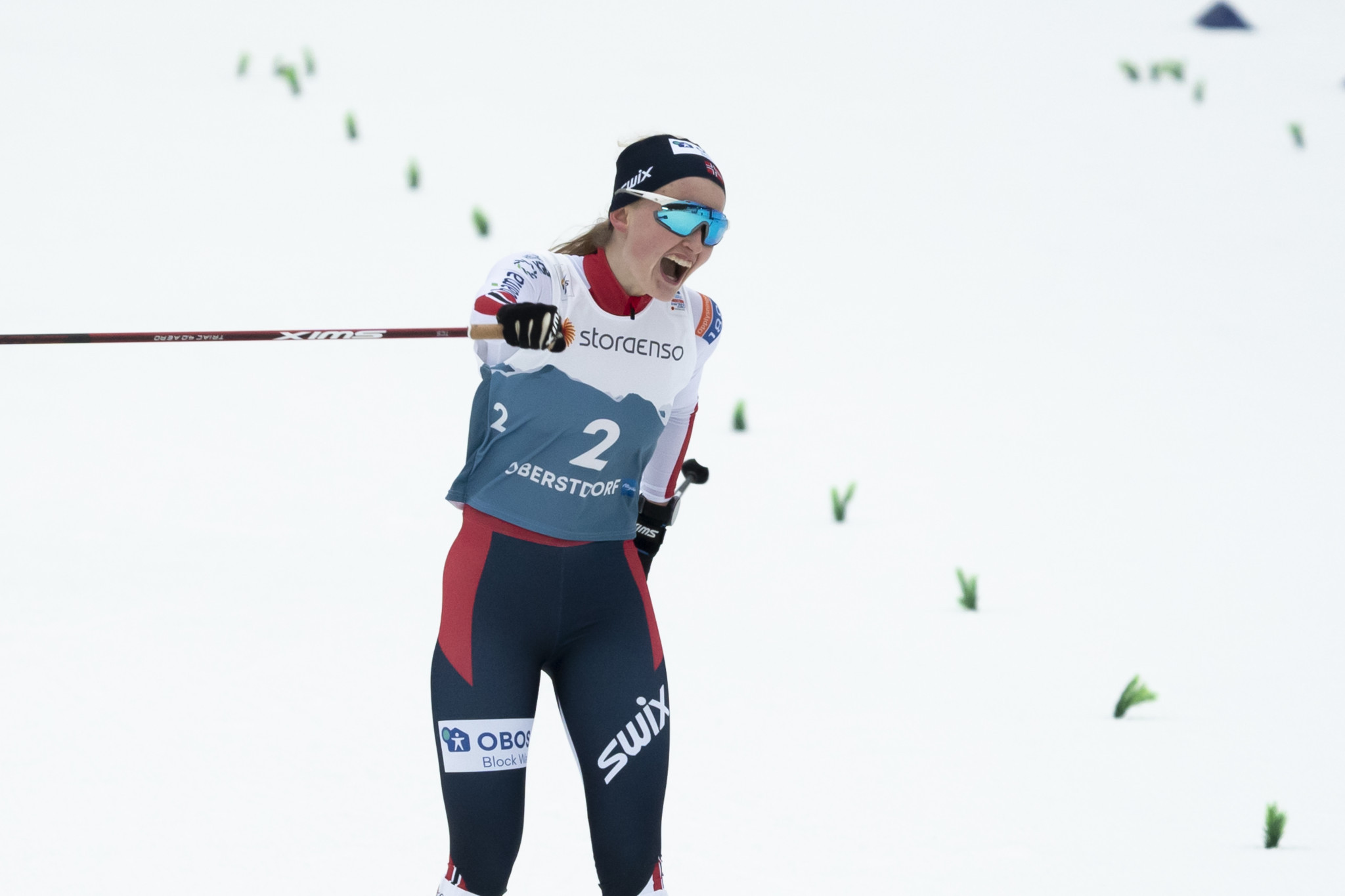 Gyda Westvold Hansen became the first women's Nordic combined world champion ©Getty Images
