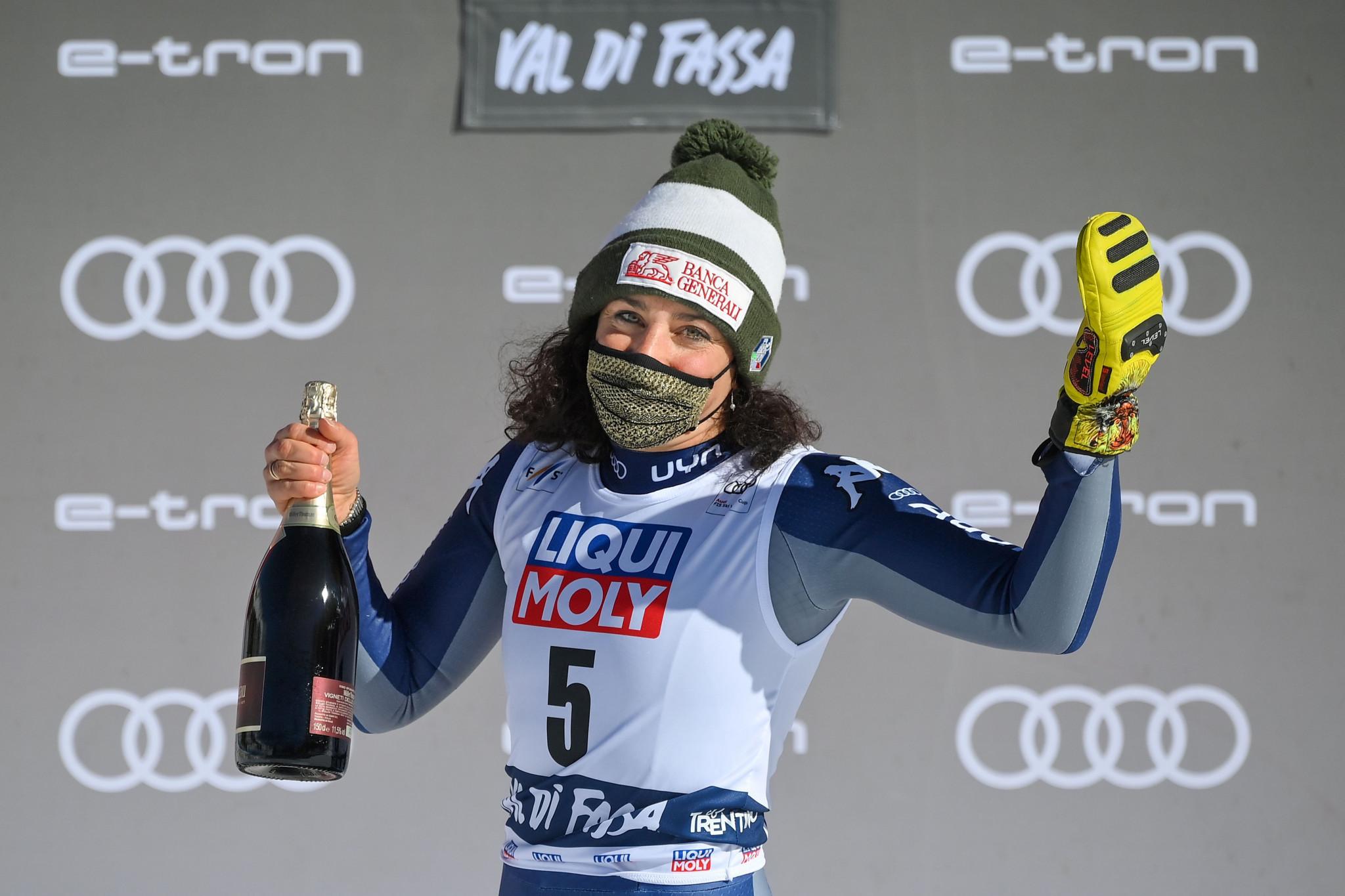 Gut-Behrami secures super-G crystal globe but Brignone ends winning run