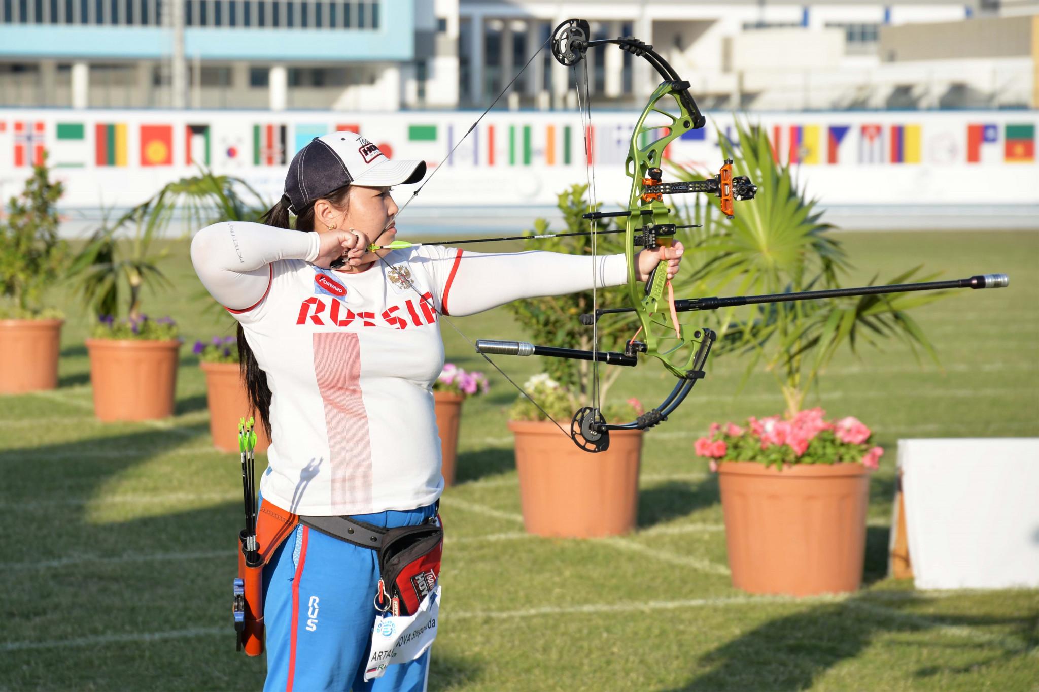 Stepanida Artakhinova helped Russia top the table at the Fazza Para Archery World Ranking Tournament ©Gaber Abedeen/Fazza LOC Media