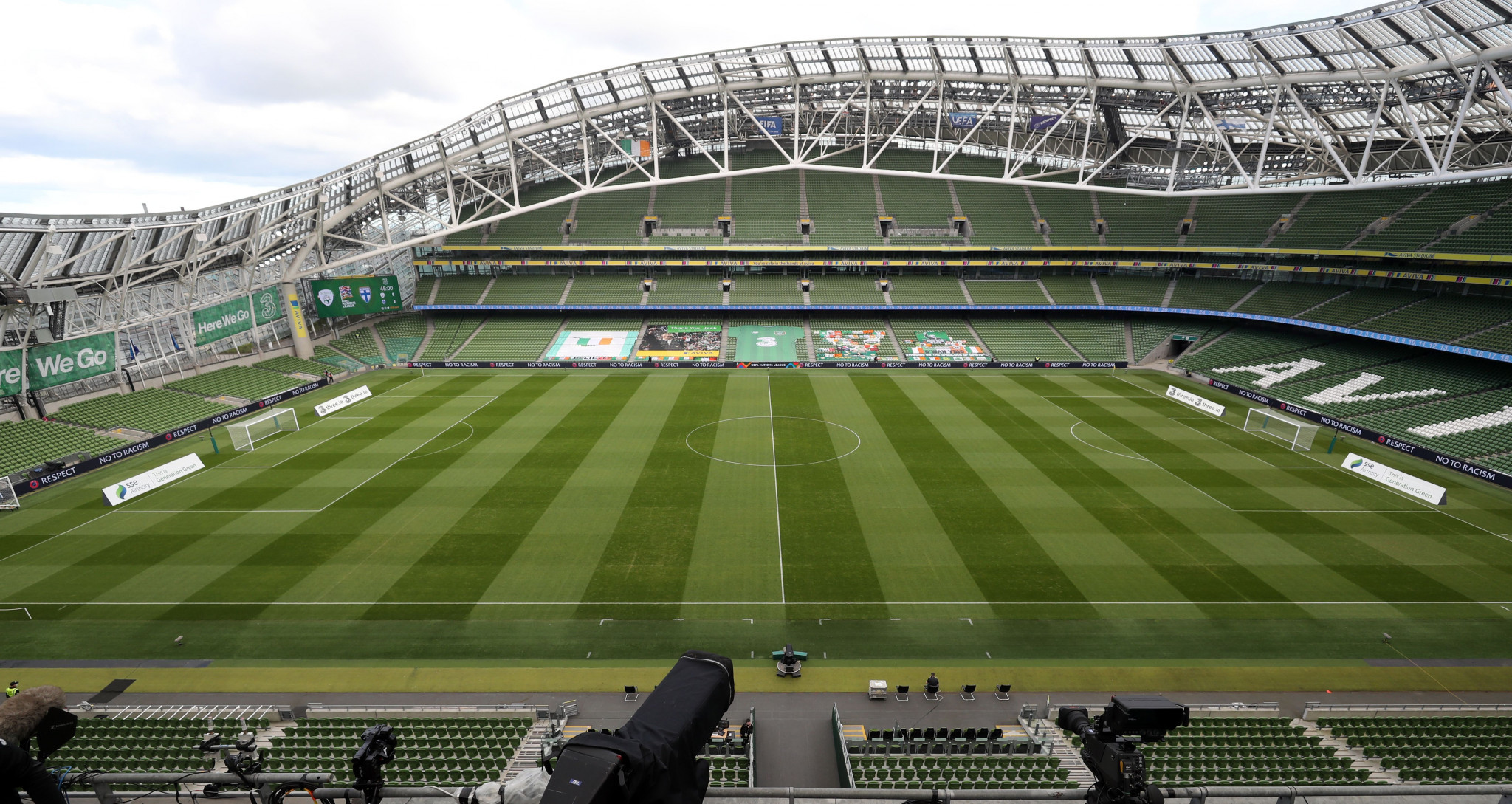 Dublin's Aviva Stadium is reportedly at risk of being dropped as a venue for Euro 2020 ©Getty Images
