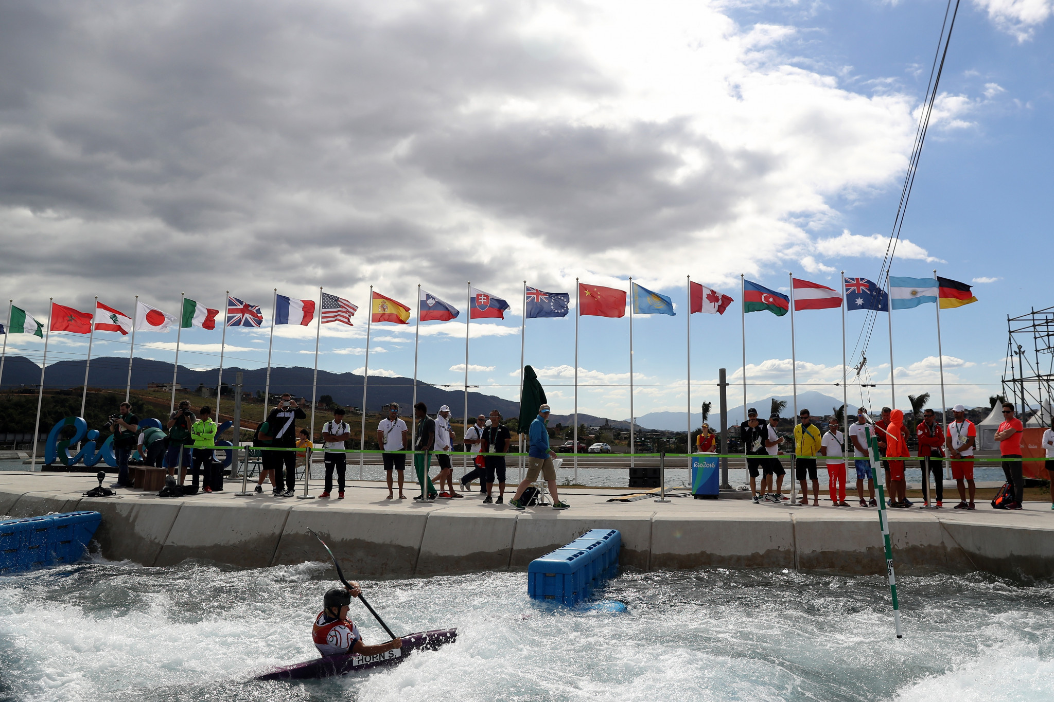 The Rio 2016 Olympics canoe slalom venue is still set to host the Pan-American Tokyo 2020 qualifier ©Getty Images