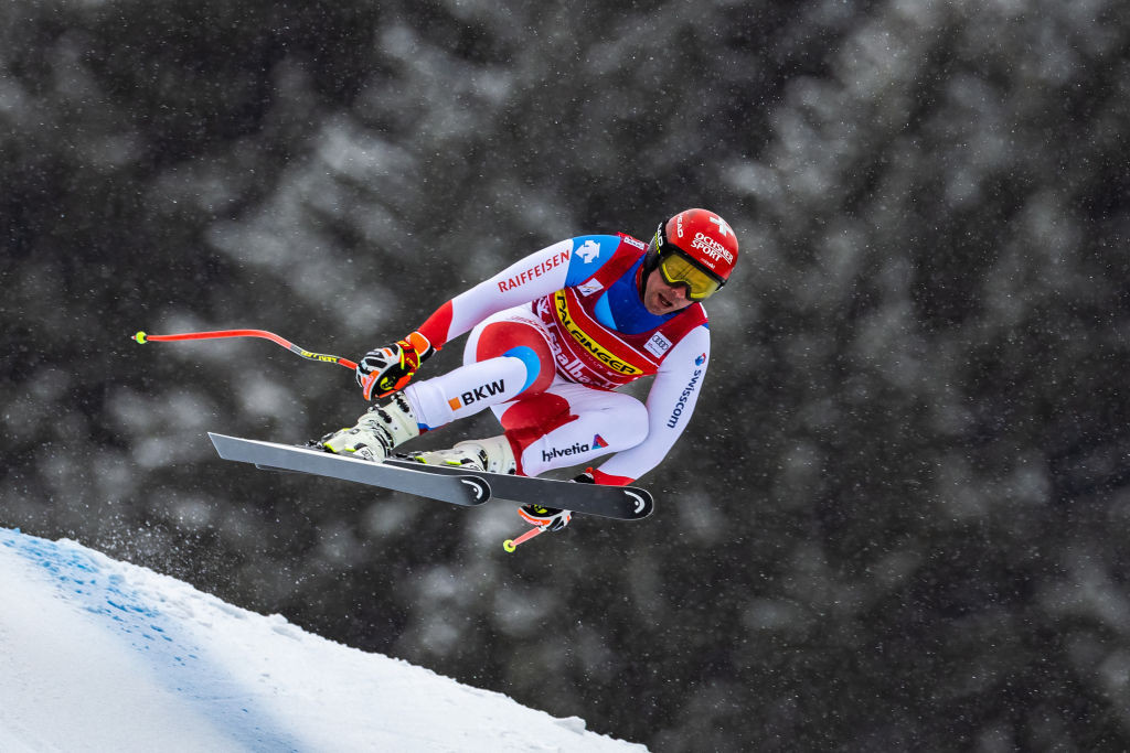 Beat Feuz extended his lead at the top of the overall downhill standings after finishing second ©Getty Images