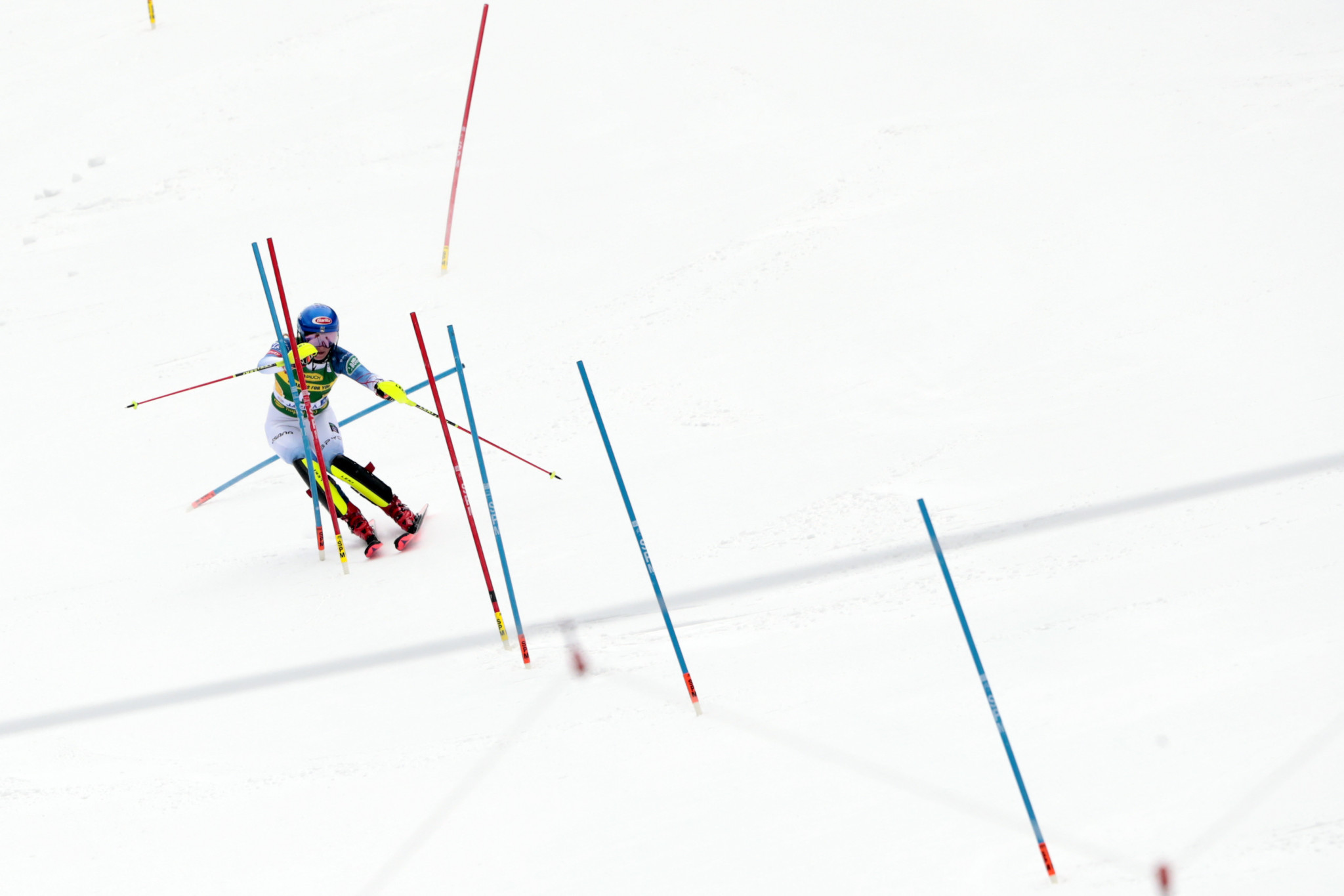 Mikaela Shiffrin produced a strong final run to overtake Petra Vlhová ©Getty Images