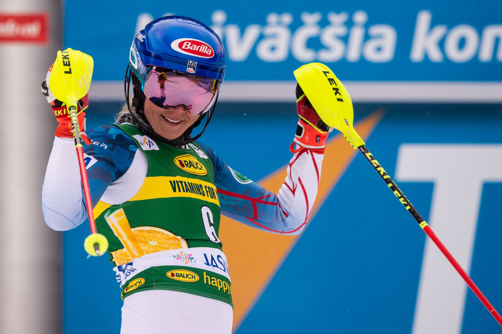 United States' Mikaela Shiffrin triumphed in Jasna ©Getty Images