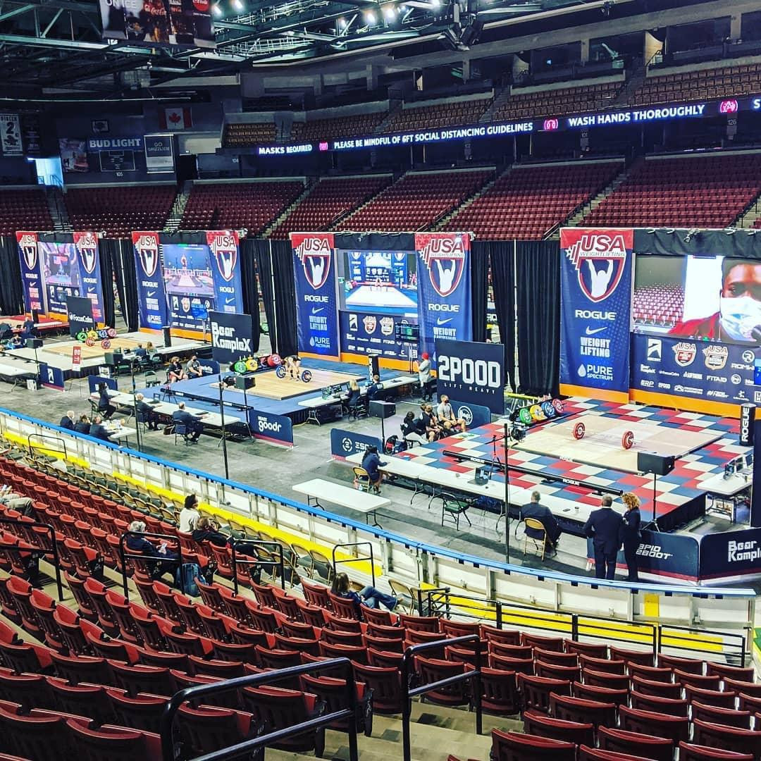The arena in Salt Lake City that hosted the in-person element of the North American Open ©Phil Andrews