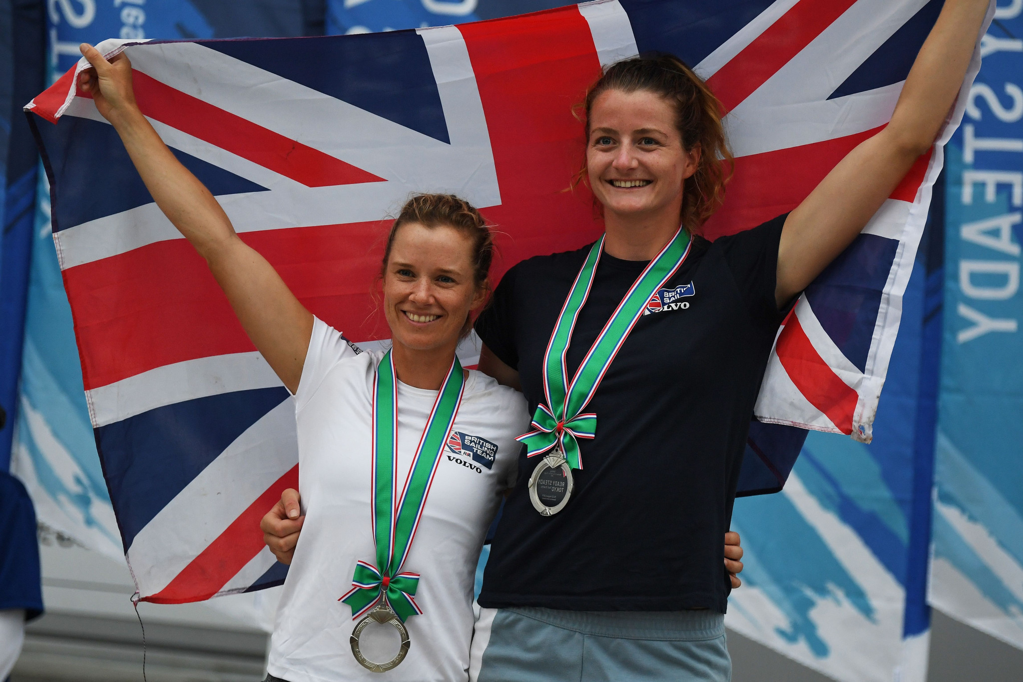 Britain's Hannah Mills and Eilidh McIntyre will be bidding to retain their 470 World Championship title in Vilamoura ©Getty Images