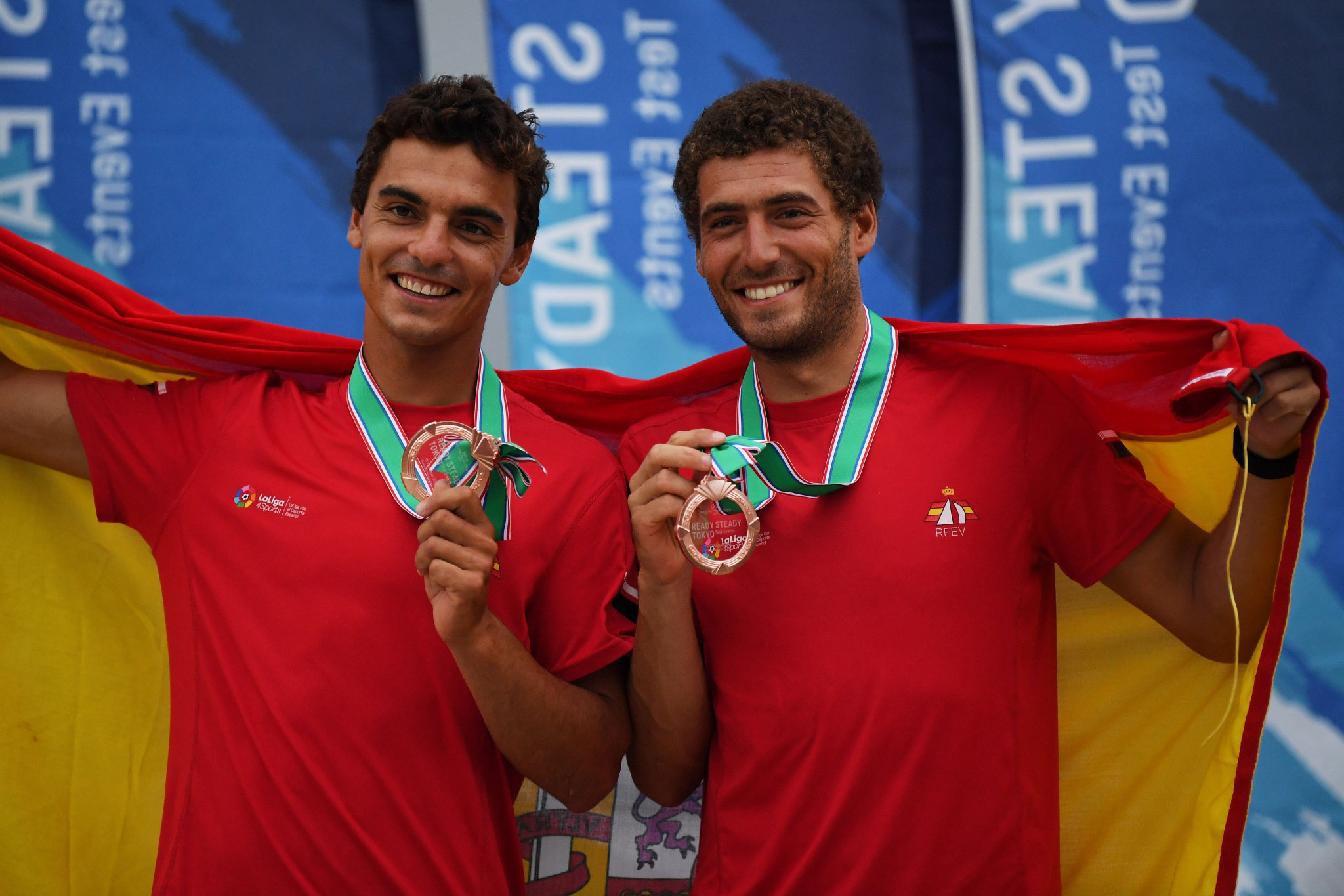 Spain's Jordi Xammar and Nicolás Rodríguez are among the favourites in the men's event at the 470 World Championships ©Getty Images