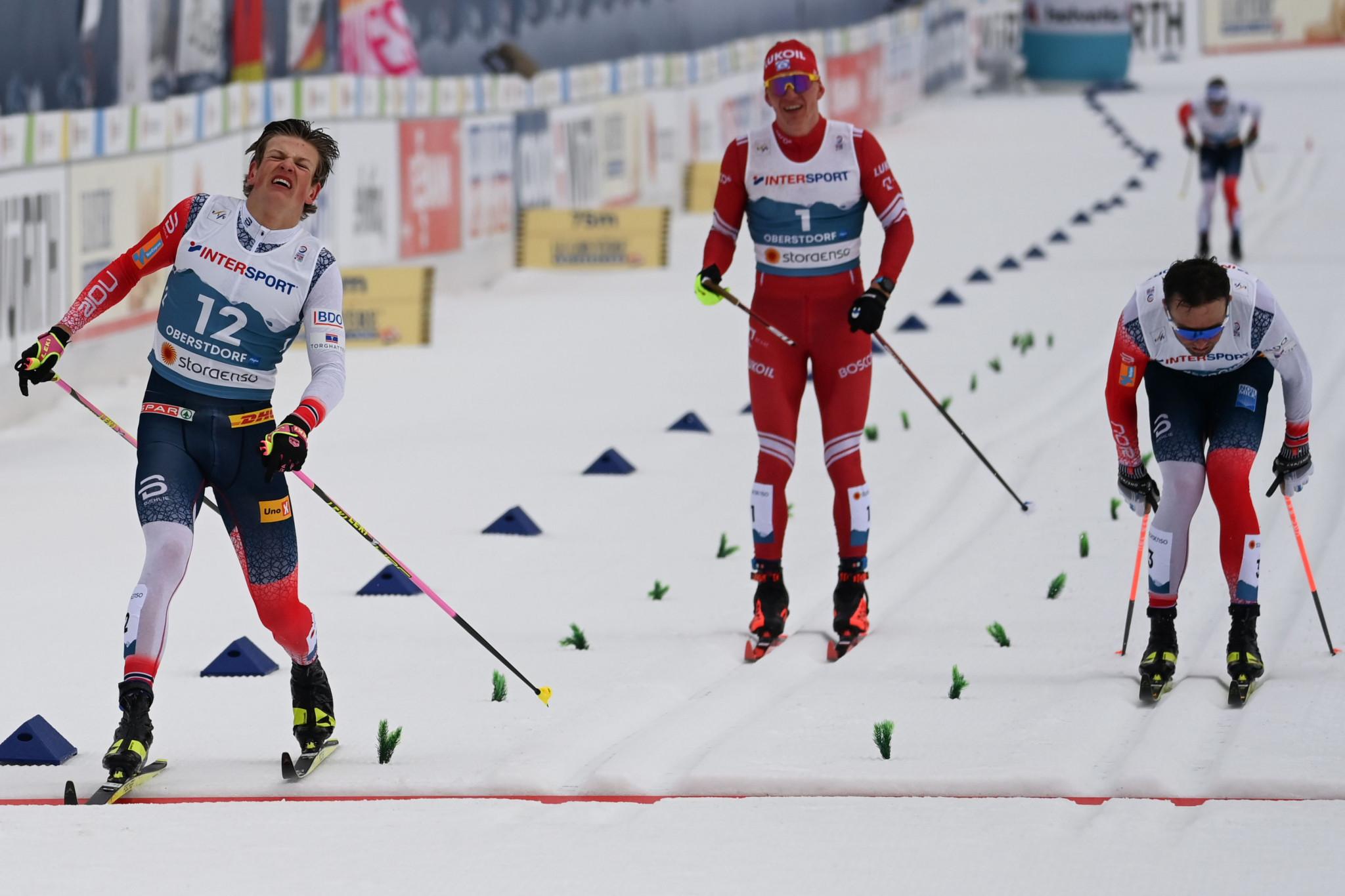 Iversen wins mass start event after Klæbo disqualified on final day of Nordic World Ski Championships