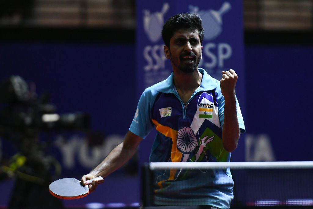India's Sathiyan Gnanasekaran was among the winenrs in the first round of the men's singles draw ©Getty Images