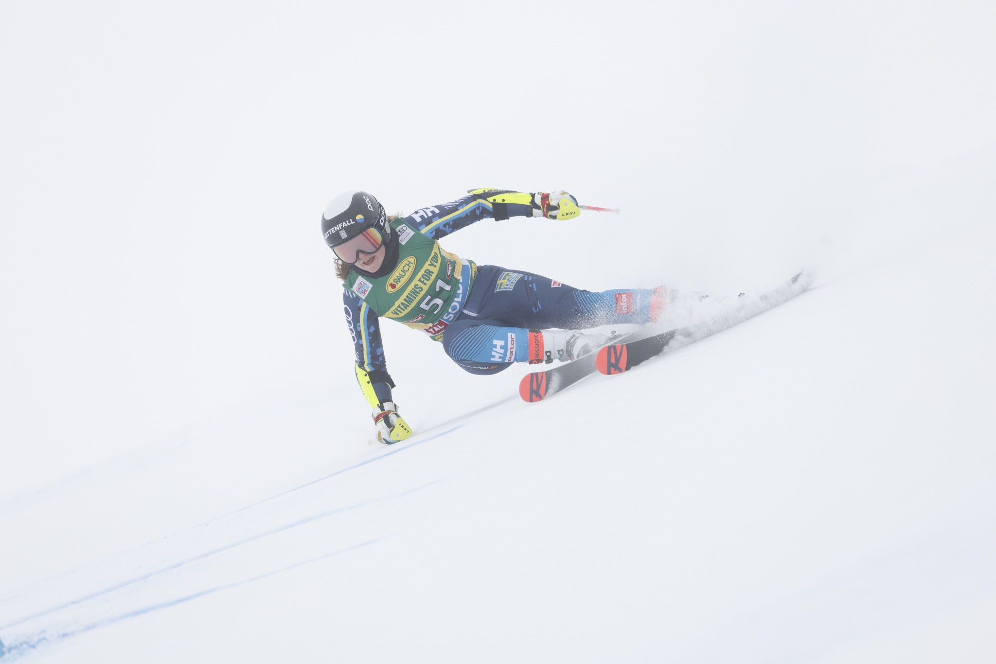 Hanna Aronsson Elfman earned Sweden's first medal of any colour at this year's Alpine Junior World Ski Championships ©Getty Images