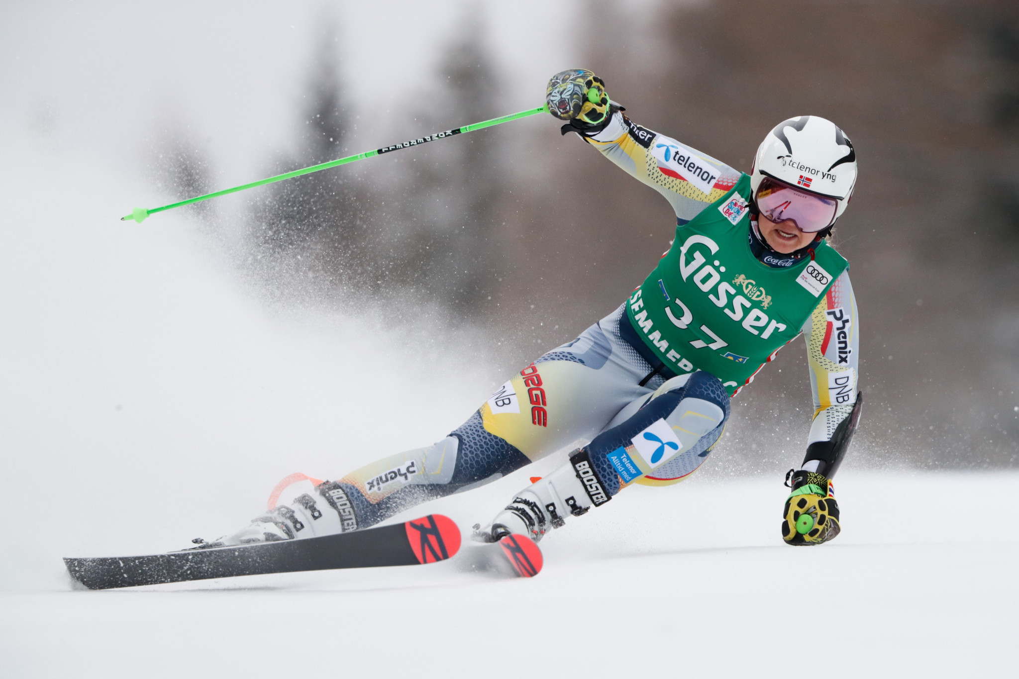 Marte Monsen came second in the women's giant slalom ©Getty Images