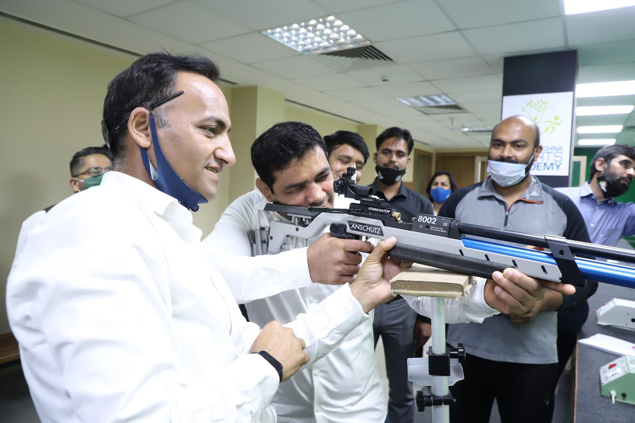 Wrestler fires inaugural shot at India's National Para Shooting Championship