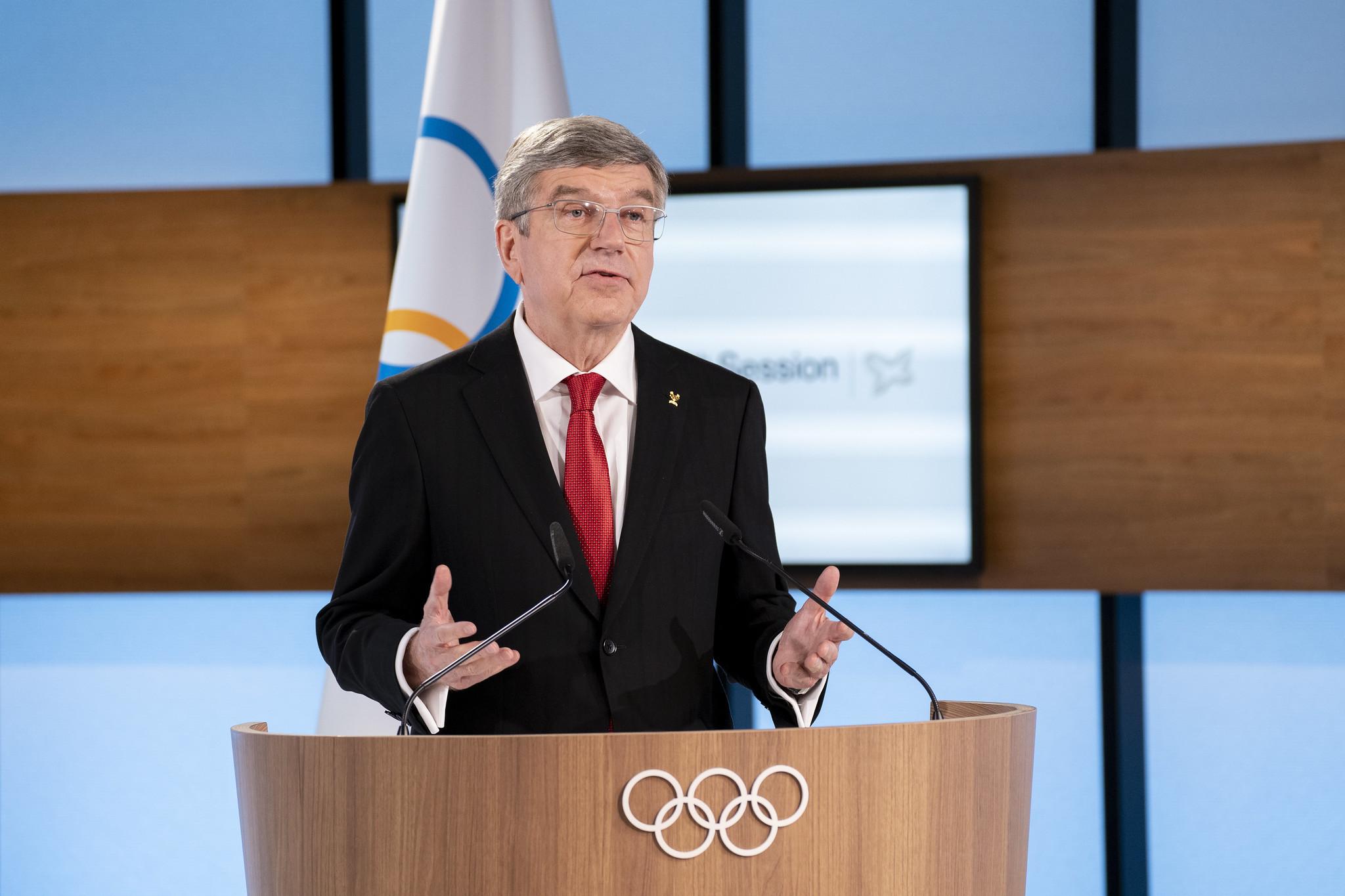 The IOC President also presented the closing report of Agenda 2020 ©IOC