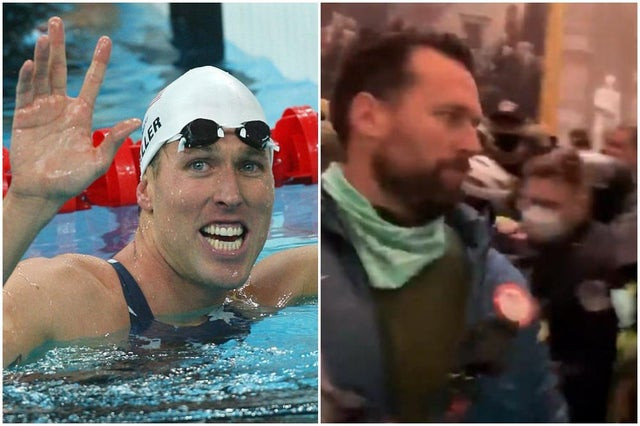 Olympic swimming champion Keller pleads not guilty to seven charges over US Capitol riot