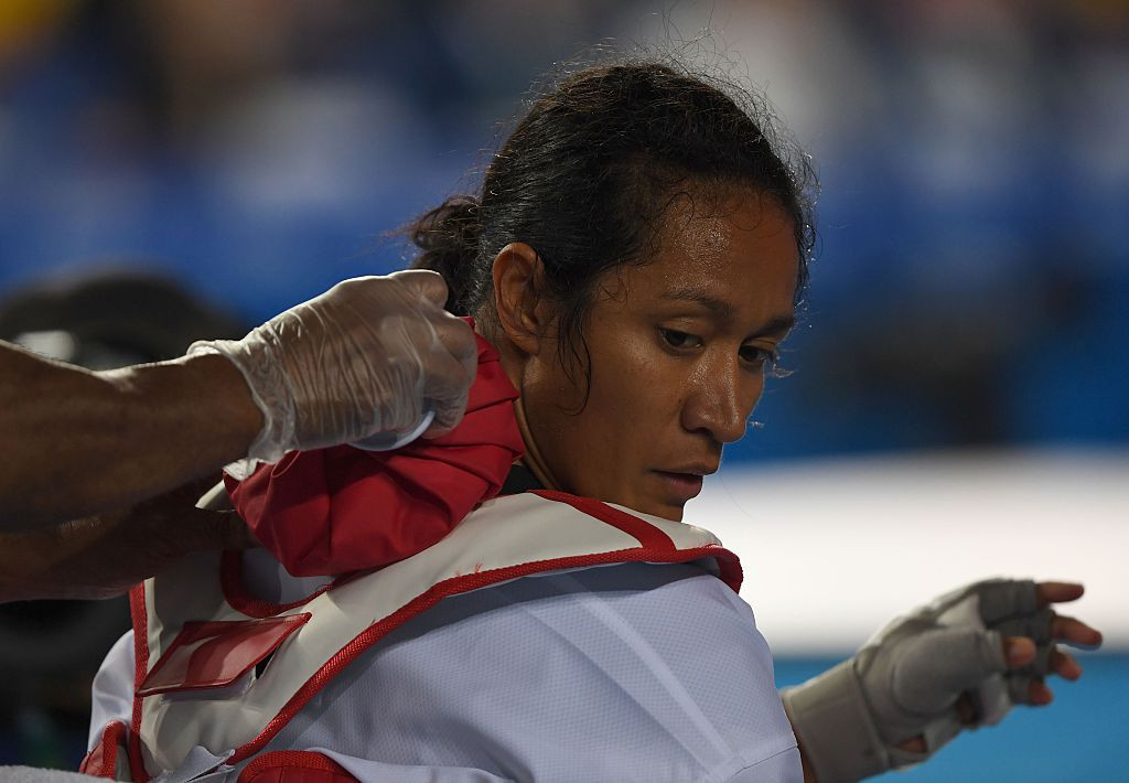 Rio 2016 taekwondo fighter Samantha Kassman has brought honour to Papua New Guinea as an active sporting figure, while other women have played key roles in the country's sporting administration ©Getty Images