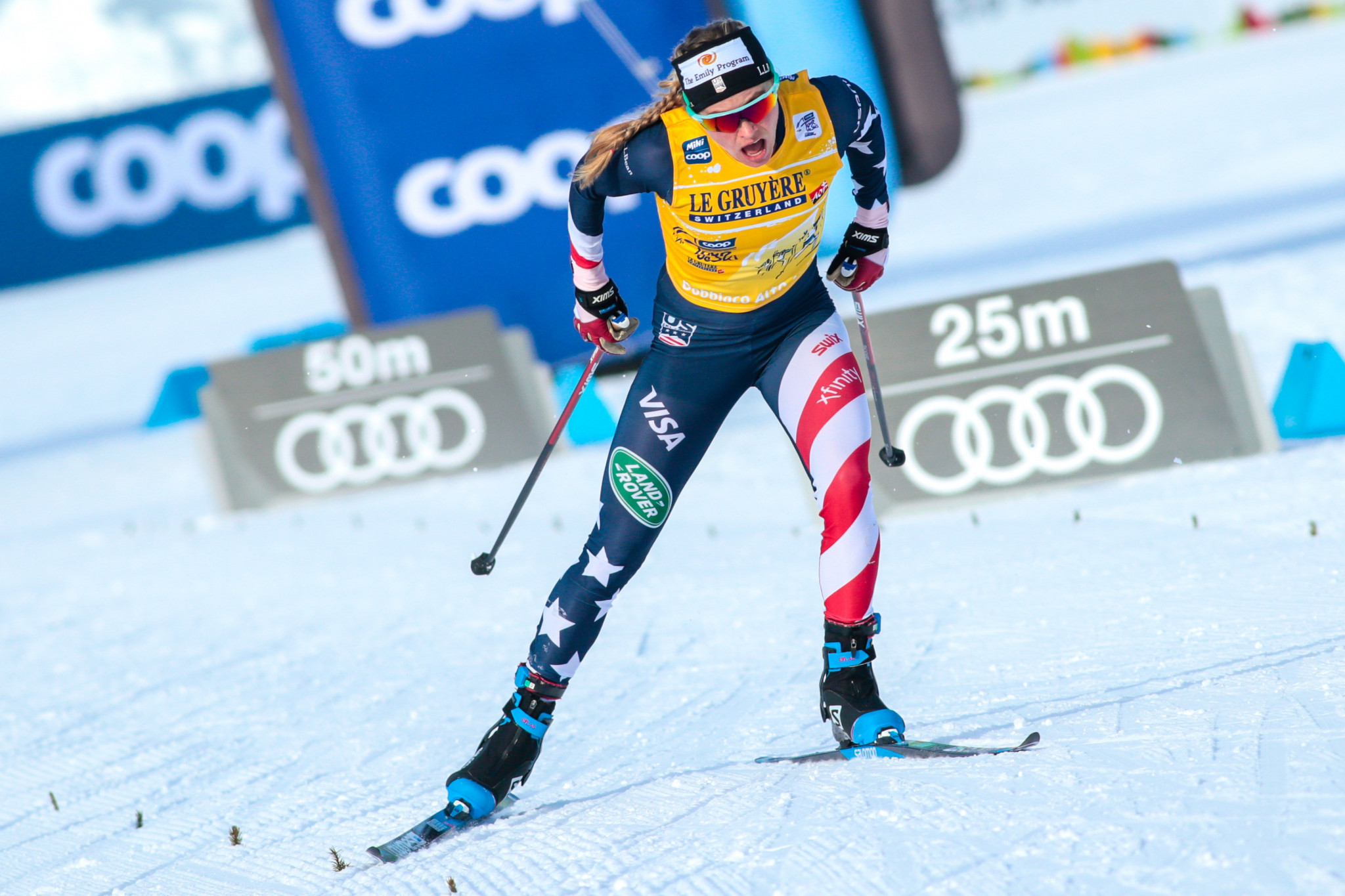 Jessie Diggins of the United States has already won the women's overall World Cup title ©Getty Images