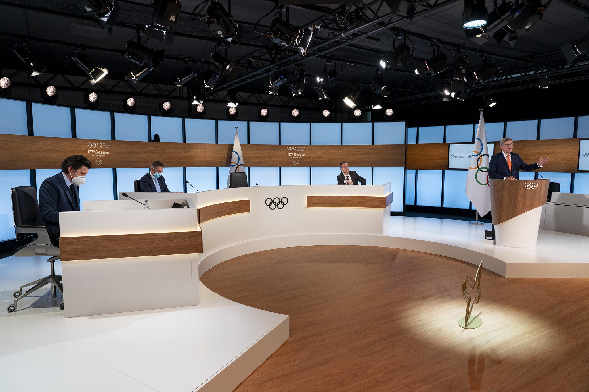 The IOC President warned the affects of the COVID-19 crisis would continue for the foreseeable future ©IOC