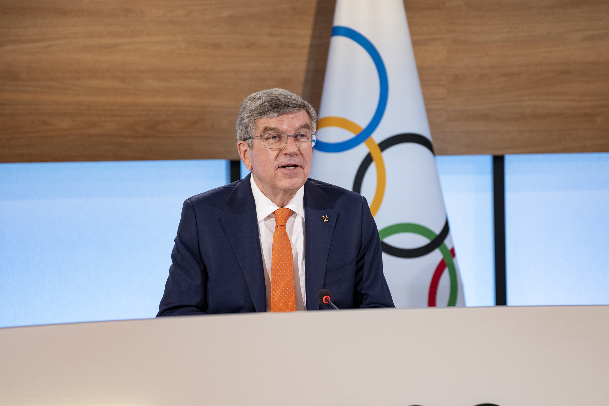 IOC President Thomas Bach thanked the members for rubber-stamping his new strategic plan ©IOC