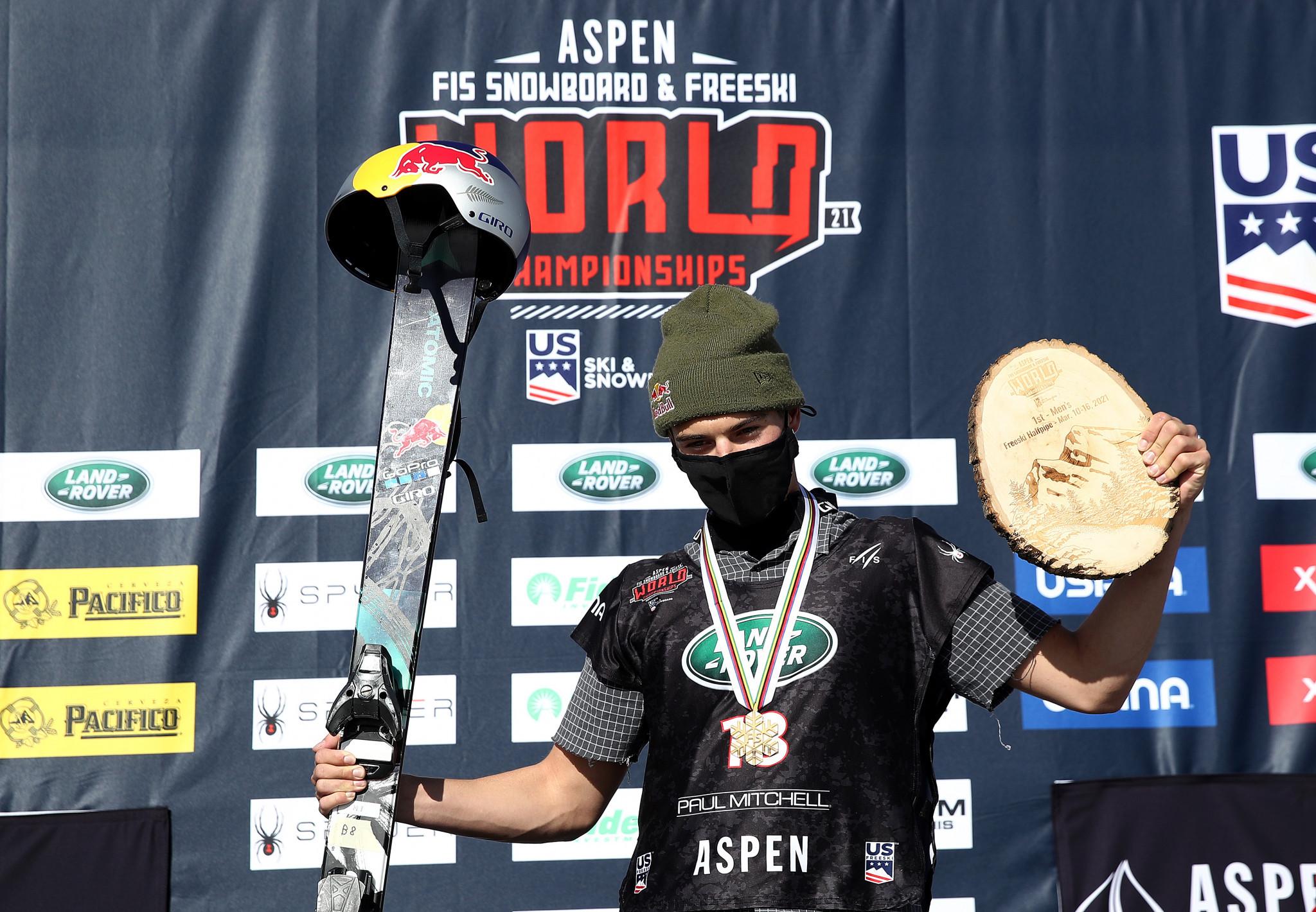 Teenagers Gu and Porteous win ski halfpipe world titles in Aspen
