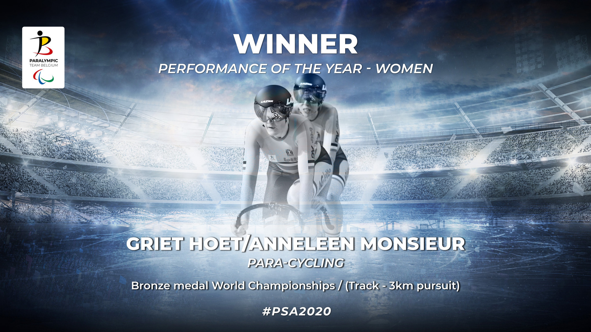Double delight for cyclists at Belgium's 2020 Paralympic Sports Awards
