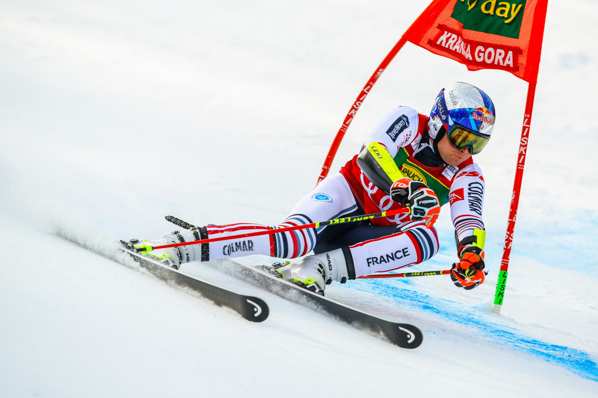 Alexis Pinturault of France lost his lead in the giant slalom standings ©Getty Images