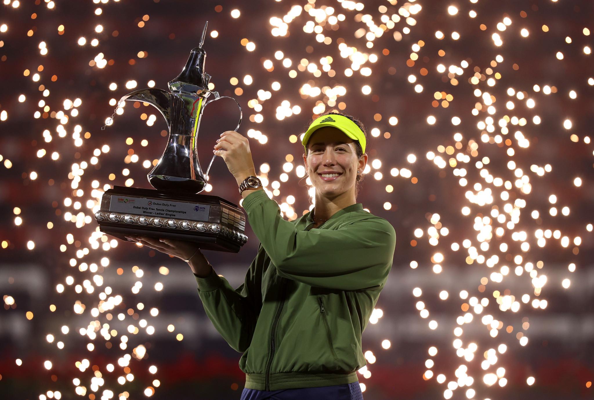Muguruza wins WTA Dubai Tennis Championships after straight sets win over Krejcikova