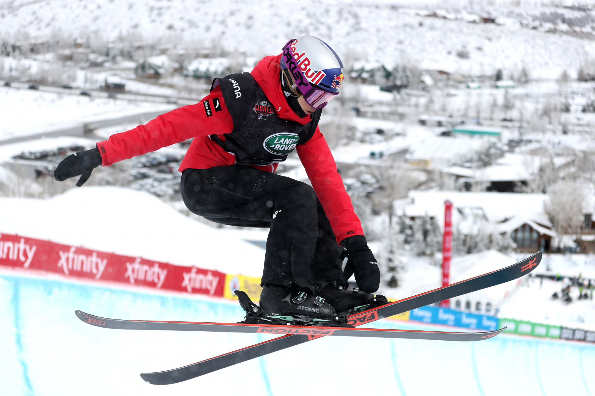 Eileen Gu won her second gold of the FIS Snowboard and Freeski World Championships in Aspen after triumphing in the women's freeski slopestyle ©Getty Images