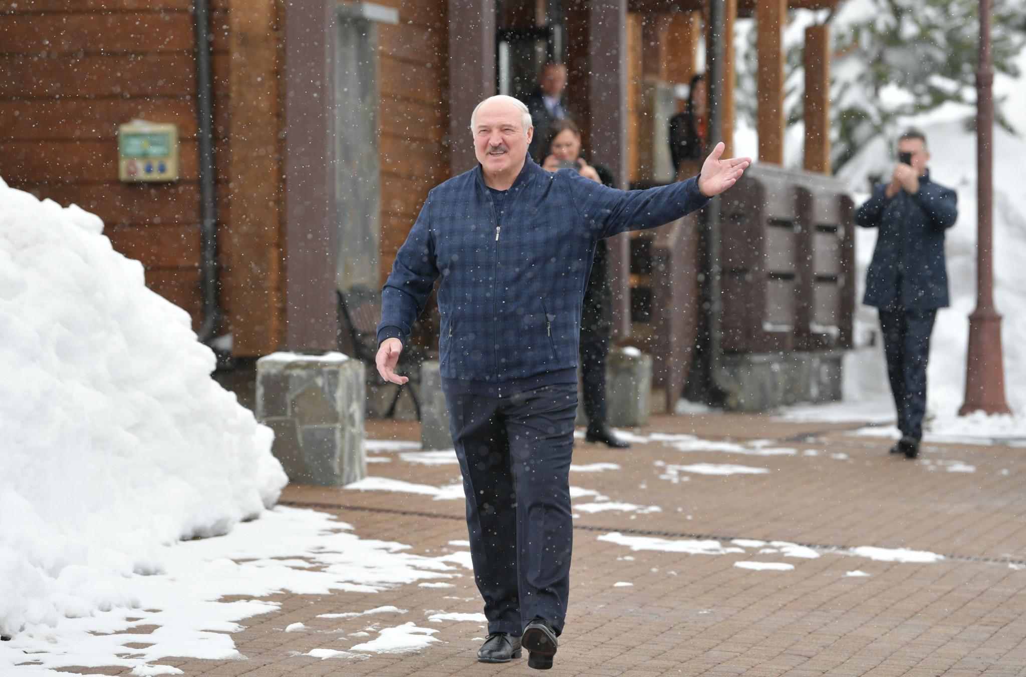 Belarus President Alexander Lukashenko has criticised IOC sanctions ©Getty Images