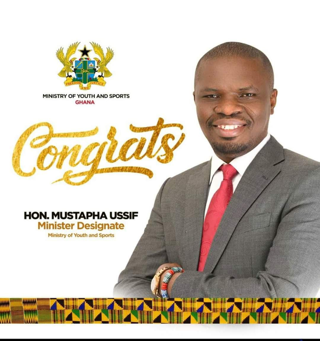 Ussif sworn in as Ghana's Sports Minister two years ahead of 2023 African Games
