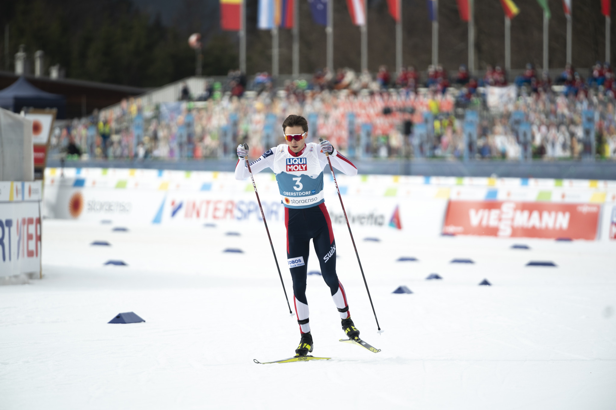 Jarl Magnus Riiber is the World Cup leader ©Getty Images