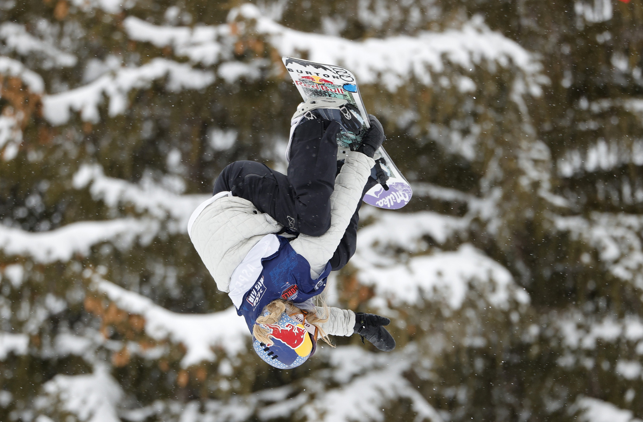 Reigning Olympic and world champion Anna Gasser topped qualification in the women's snowboard big air contest in Aspen ©Getty Images