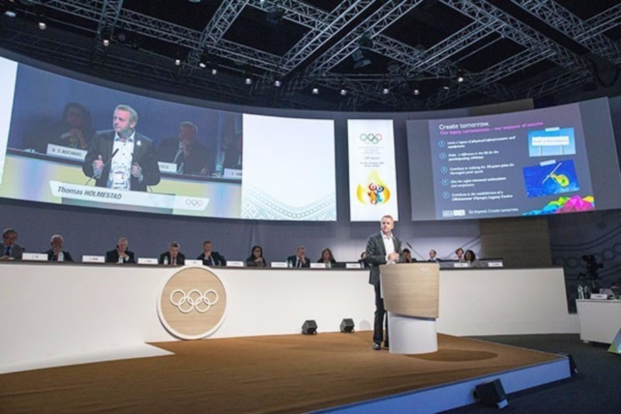 Tomas Holmestad, pictured addressing the IOC, has predicted the Winter Youth Olympic Games next month will help create a strong legacy for Norway  and help rebuild enthusiasm for the Games ©IOC