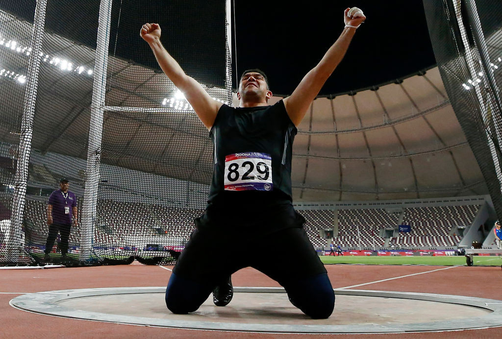 Tajikistan's Rio 2016 hammer champion Dilshod Nazarov has received a retrospective two-year doping ban ©Getty Images