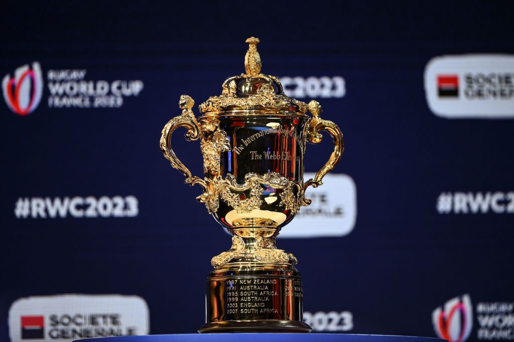 The Rugby World Cup trophy is named after William Webb Ellis, considered the inventor of the sport ©Getty Images