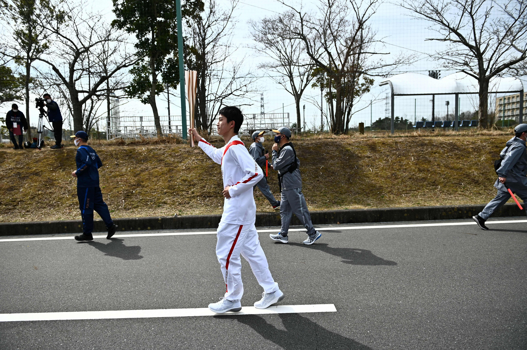 Asato Owada, a 16-year-old goalkeeper and Fukushima native, was another Torchbearer ©Getty Images