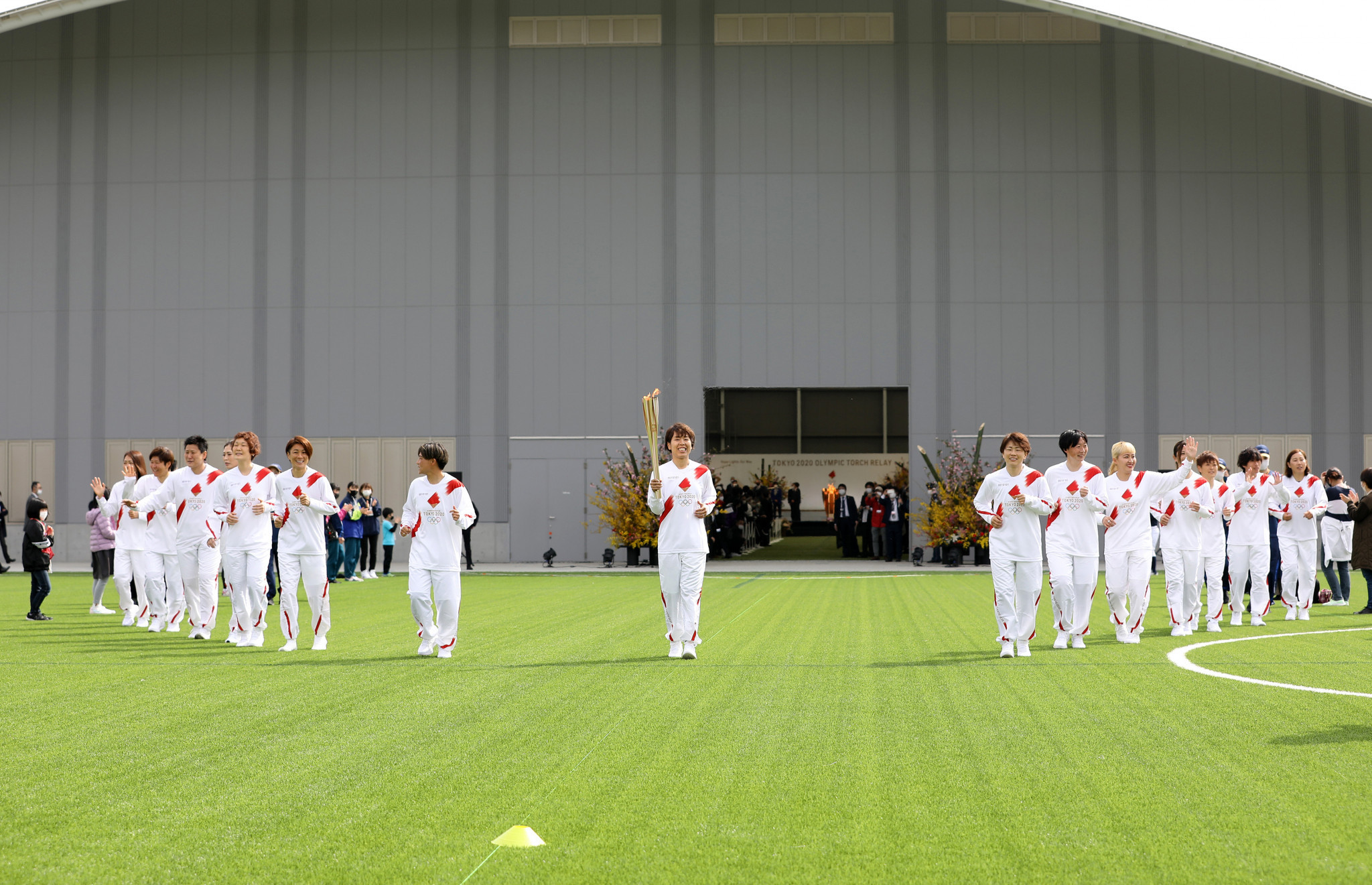 The J-Village national football training centre in Fukushima was the scene for the Torch Relay launch  ©Getty Images