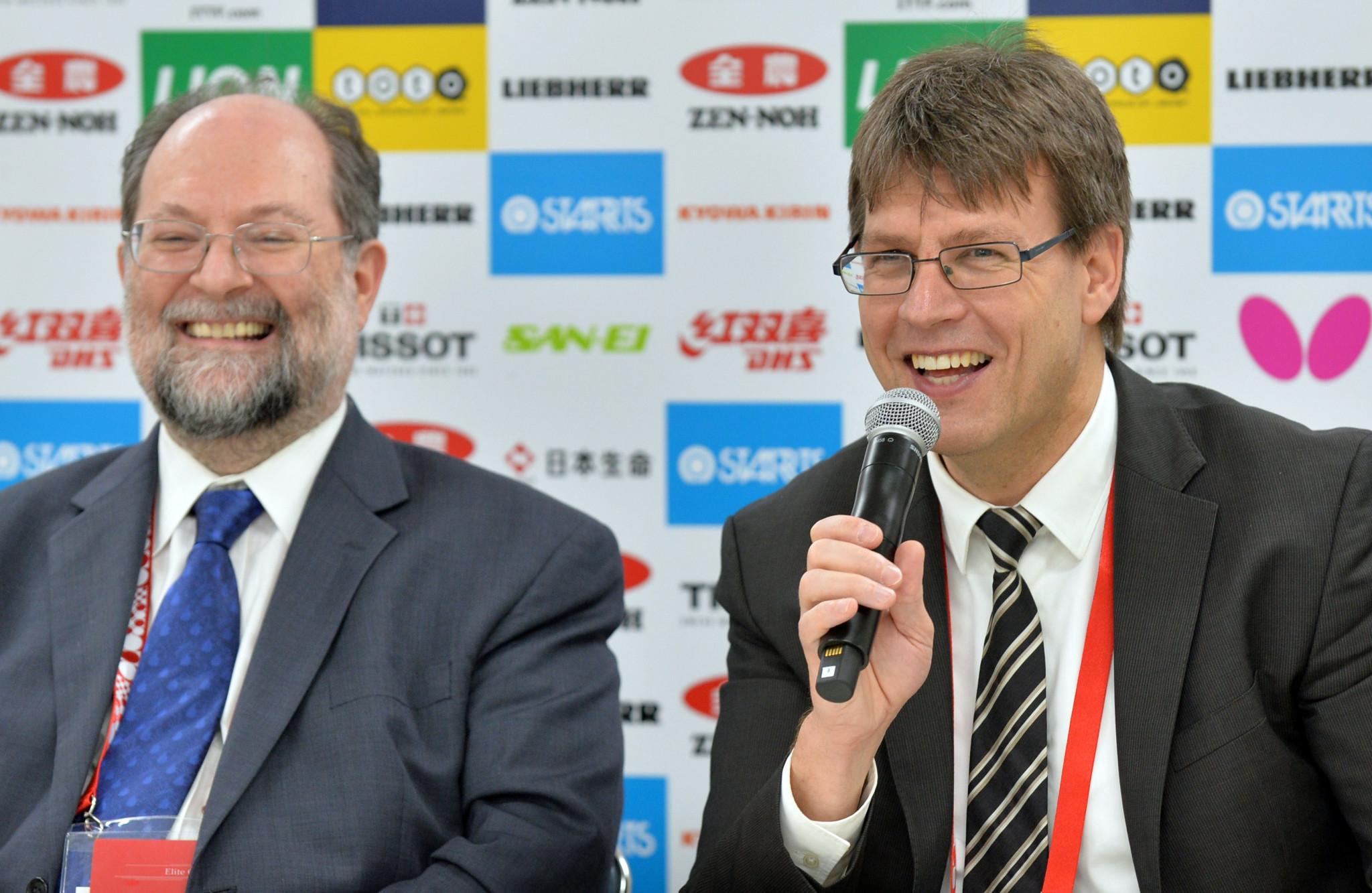 Solesbury Gay claimed ITTF President Thomas Weikert made three