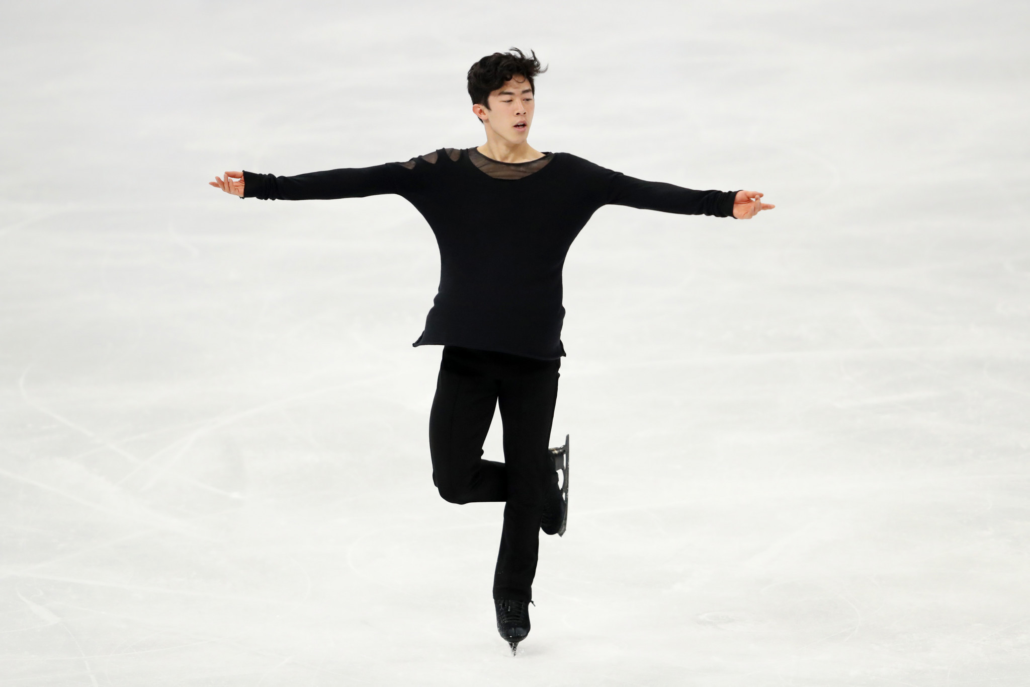 Nathan Chen won the men's singles title at the World Figure Skating Championships after an impressive display in the men's free skate ©Getty Images