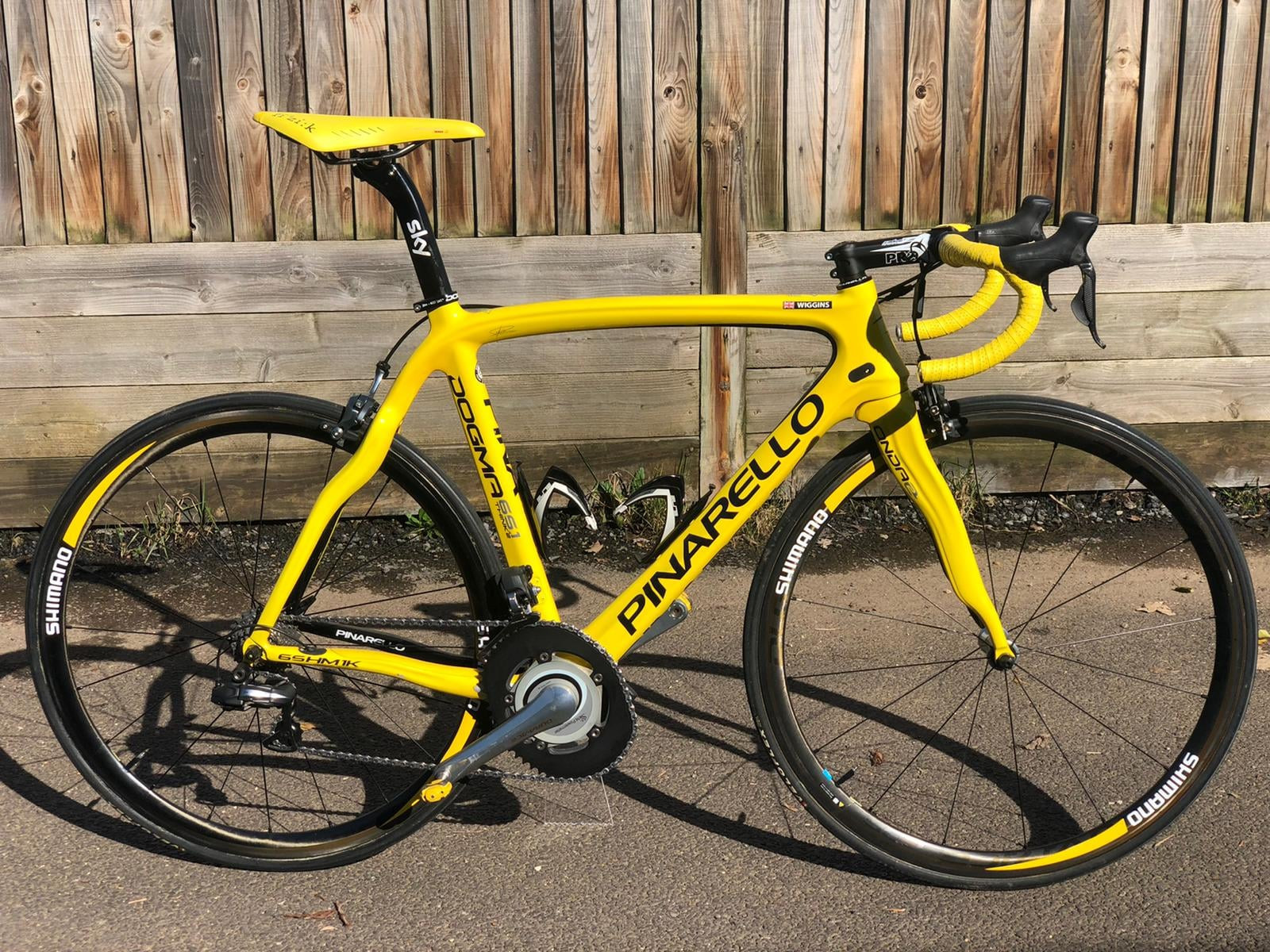 The bike, a custom edition Pinarello Dogma 65.1, is up for sale at £7,500 ©Facebook