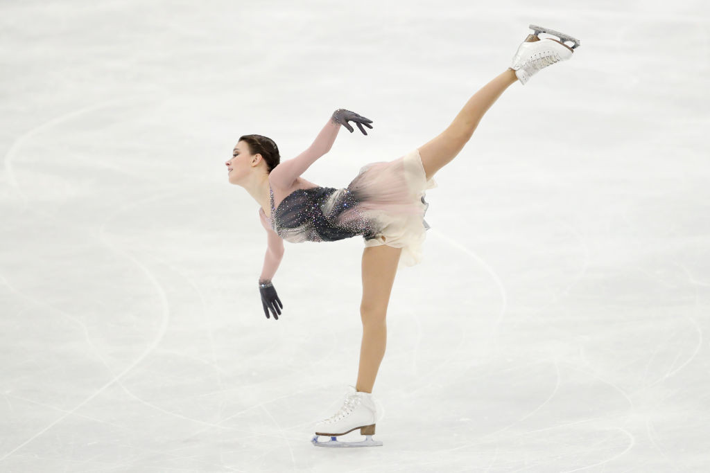 Anna Shcherbakova was the star of the Russian team at the World Figure Skating Championships ©Getty Images