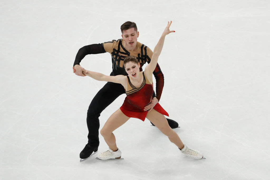 Anastasia Mishina and Aleksandr Galliamov claimed a surprise gold in the pairs event at the Championships ©Getty Images