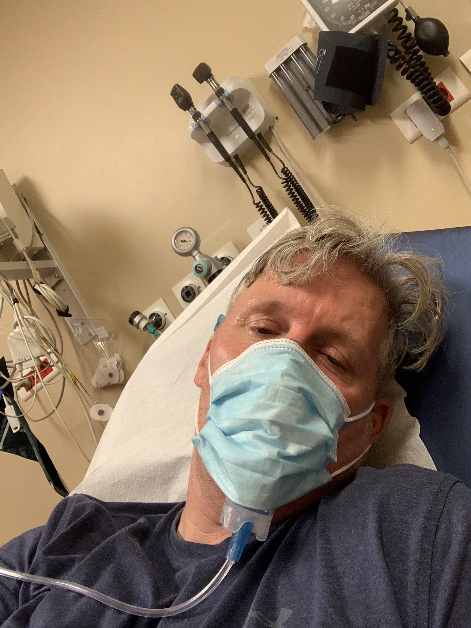 Tony Davis is in hospital in Istanbul after contracting COVID-19 ©Tony Davis/Twitter