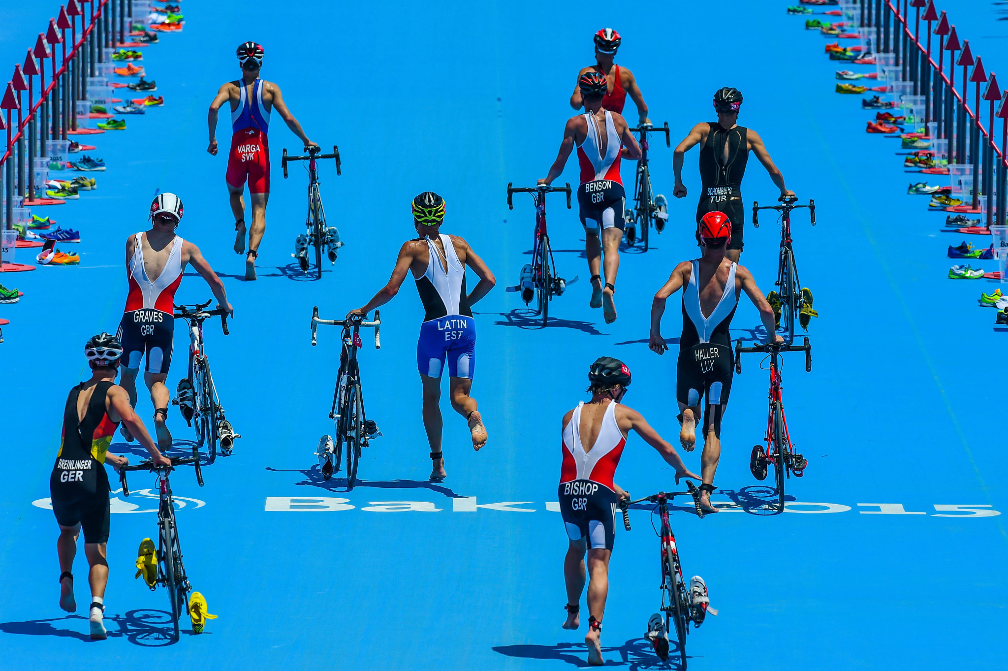 Triathlon last featured at the European Games in Baku in 2015 ©Getty Images
