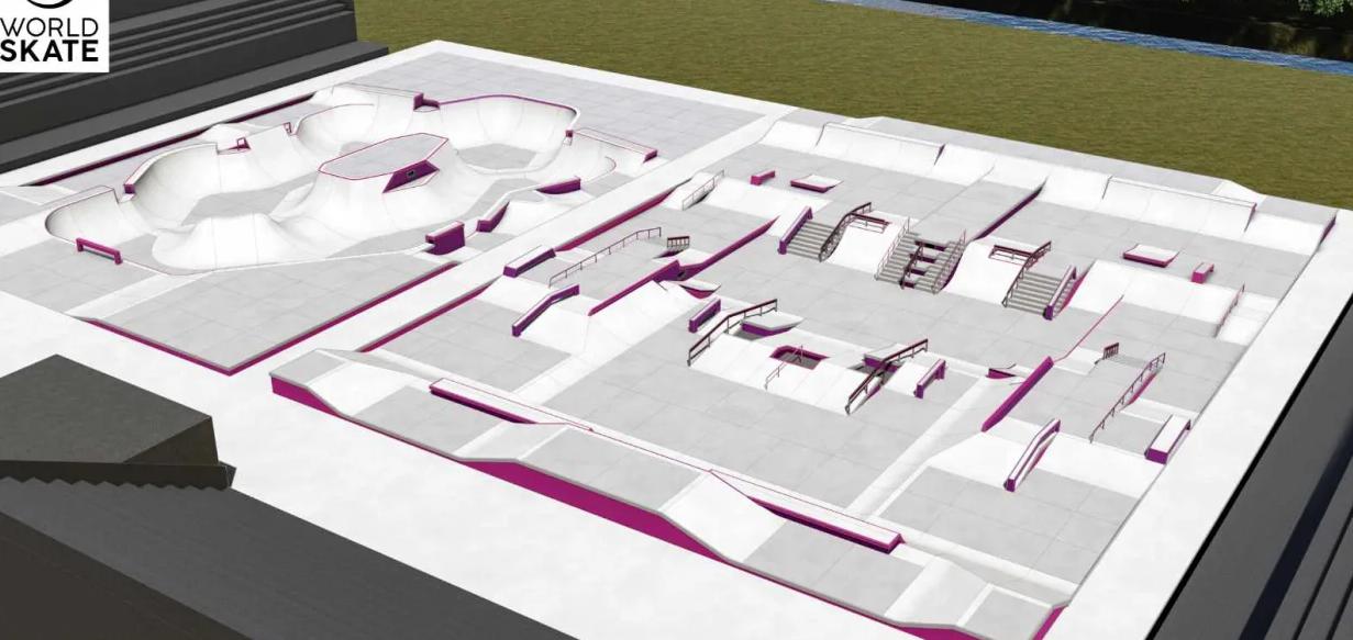 Tokyo 2020 unveils larger-than-standard skateboard course designs