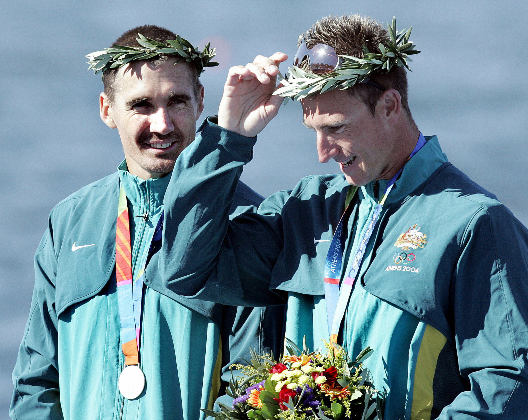 Nathan Baggaley, right, captured two silver medals at the Athens 2004 Olympics ©Getty Images