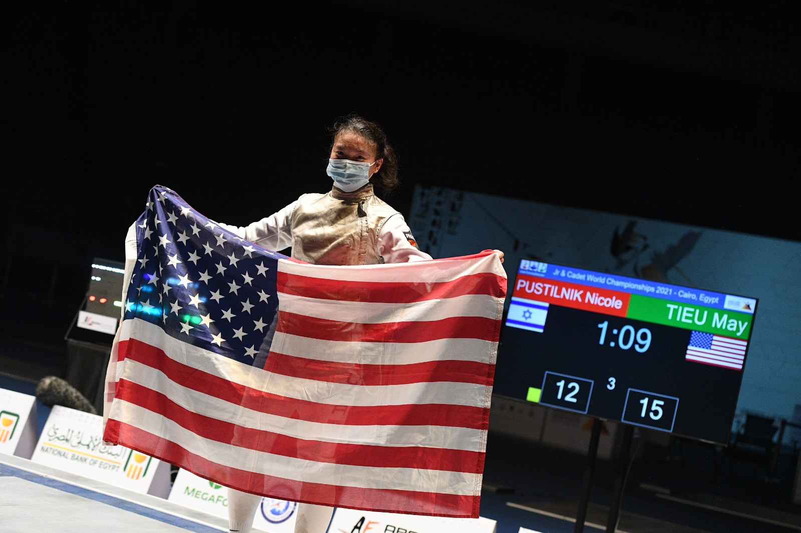 Kozlov and Tieu win junior foil world titles in Cairo